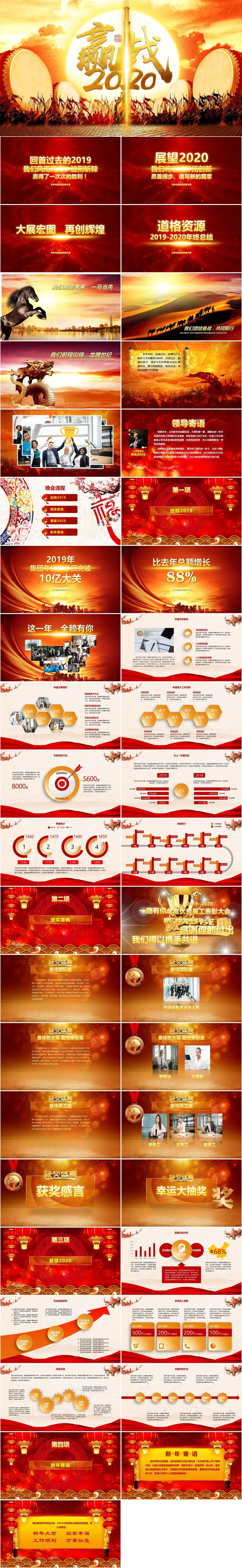 酷炫开场赢战2020企业年会颁奖典礼PPT模板插图1