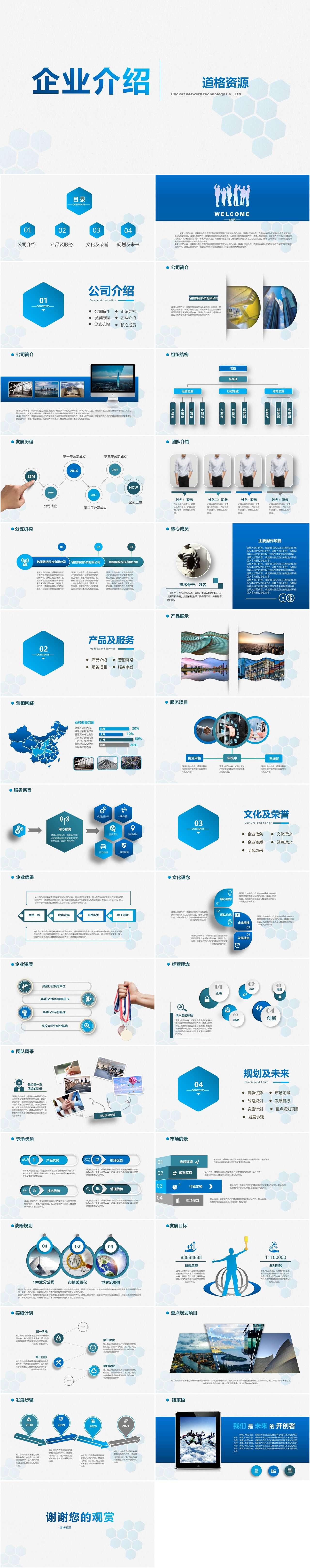 最新企业介绍公司宣传ppt模板插图1