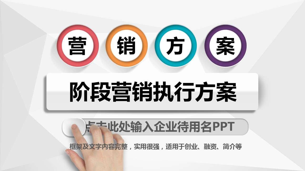 房地产营销方案销售策划方案活动ppt模板