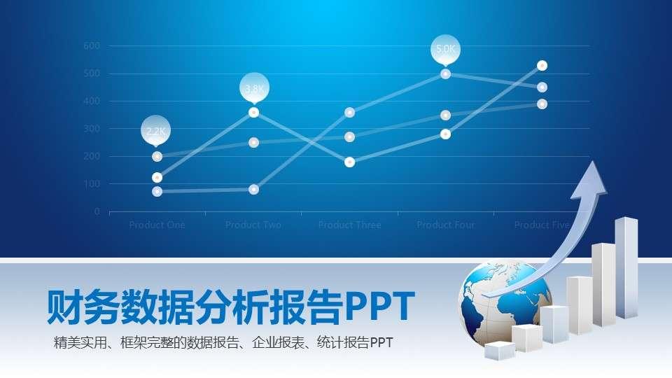 财务数据分析报告ppt模板