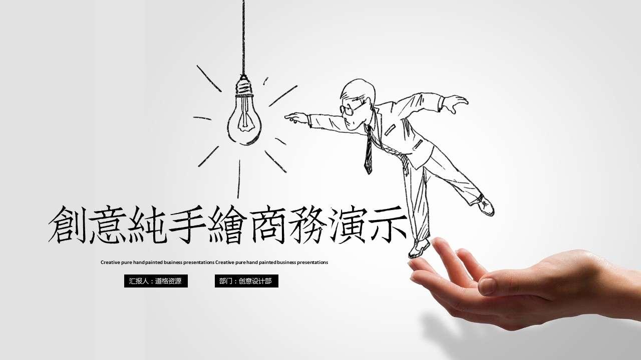 创意手绘商务产品介绍演示PPT模板