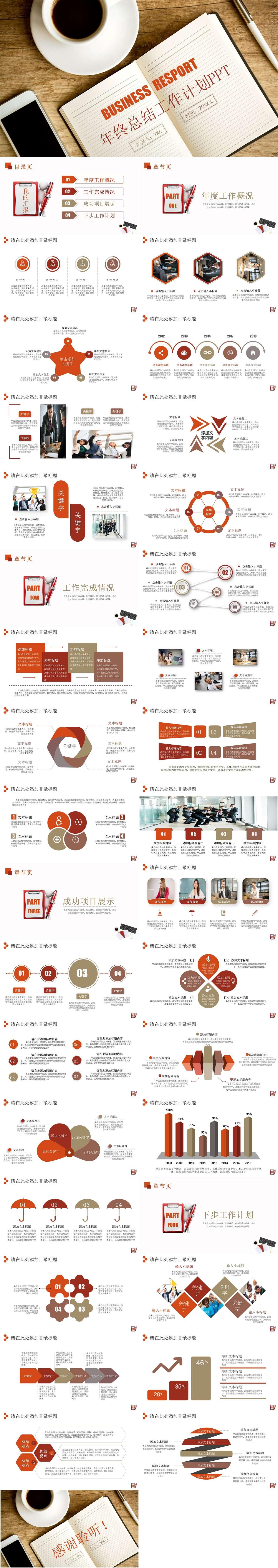 商务风工作汇报新年计划工作总结商务PPT模板插图1