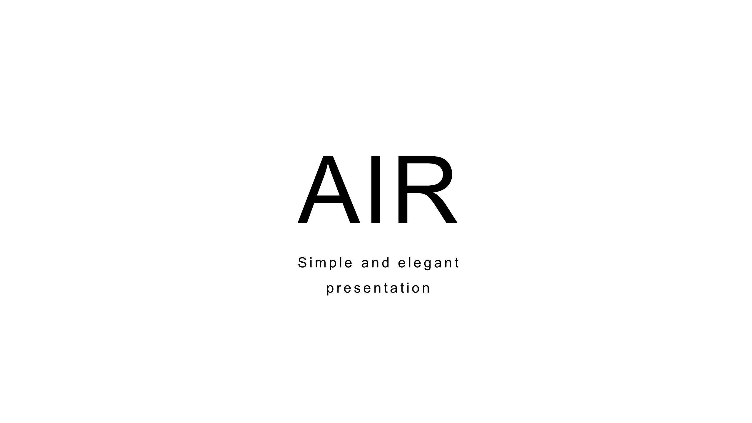 Air 商务策划项目介绍PPT模板