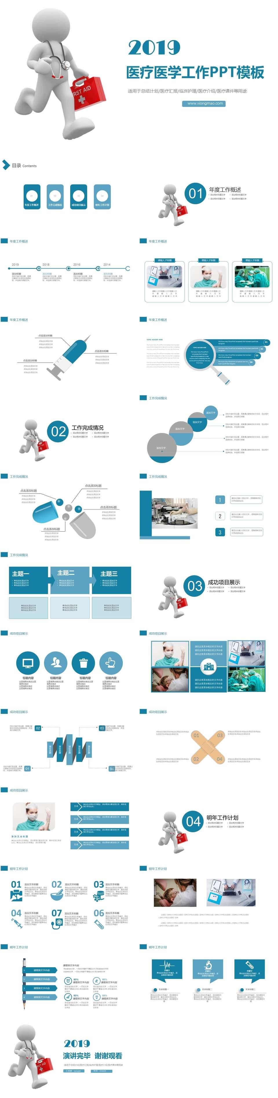 医床医学临床护理医疗介绍医疗课件PPT模板插图1