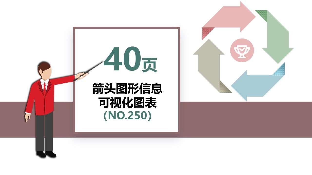40套箭头图形信息可视化PPT图表插图