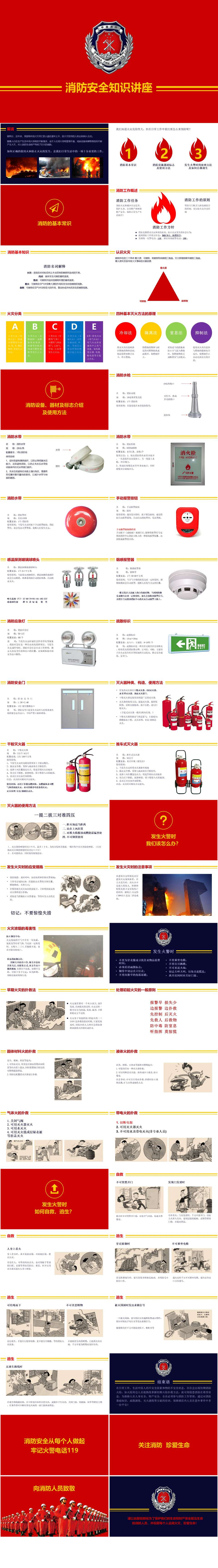 消防安全知识教育讲座PPT模板插图1