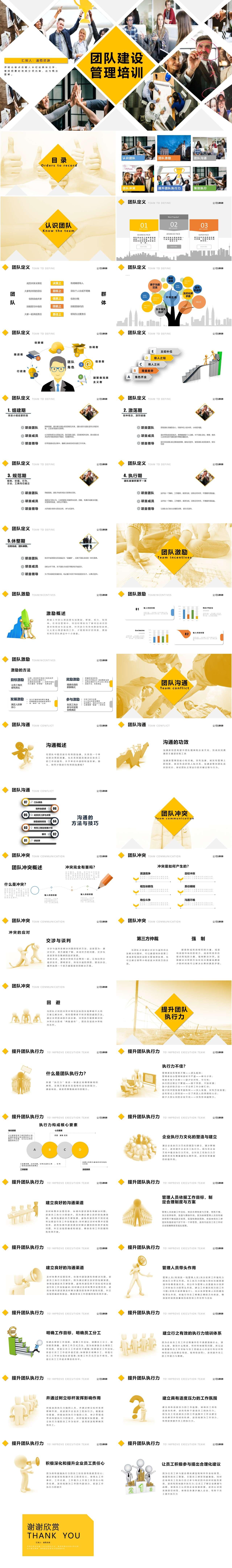 黄色商务团队建设管理入职培训通用PPT插图1