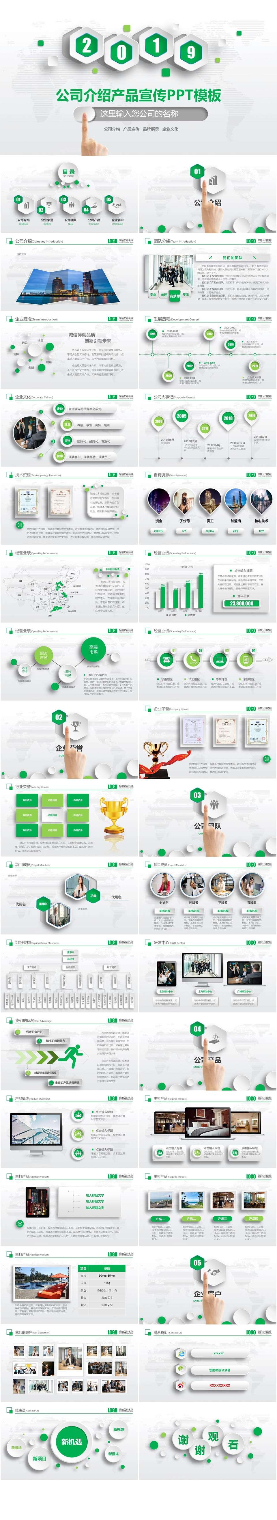 2019年企业产品宣传介绍PPT模板插图1